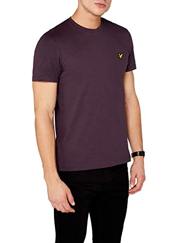 (Lyle & Scott Crew Neck T Shirt Deep Plum Medium)