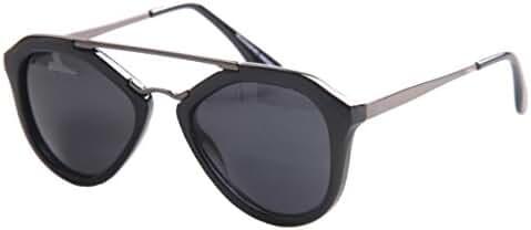 SojoS Unisex Retro Double Bridge Brand Designer Sunglasses Round Sun Glasses