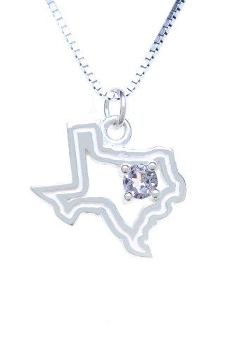 Sterling Silver Pendant Charm Texas