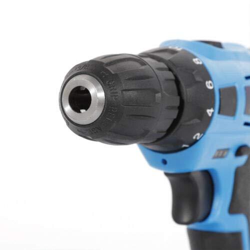 21 V 45 N.M Taladro atornillador inal/ámbrico resistente al agua 2 velocidades y bater/ía de ion de litio