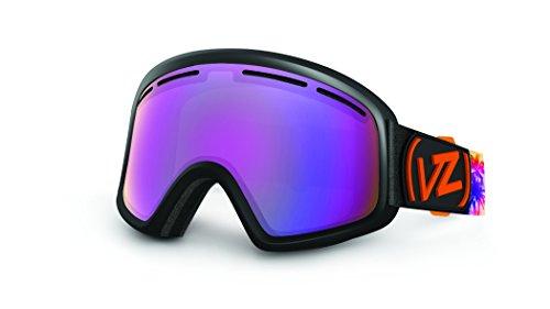 VonZipper Trike Goggles, Wake 'N' Bake Black Gloss Satin Fade/Smoke Pink Chrome (Gloss Black Fade Frame)