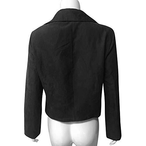 Moda Vestito Di Tendenza Solido Camicia Semplice Casual Donne Vecdy Retrò Cerniera Vendita Nera Collare Piumino Streetwear Liquidazione Autunnale Colore Delle Di O50wY