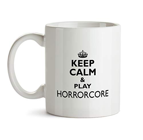 Horrorcore Music Gift Mug - AA32 Keep Calm And Play Funny About Musical Lover Quote Theme Themed Coffee Gift Novelty Cup For Teacher Director Player For Men Women