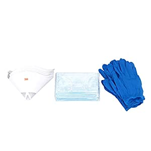 FYSETC 3D UV Resin Printers Parts, 3 in 1 Protection Tool 190 Micron Paper Strainer Disposable Earloop Face Masks Exam Gloves for LCD Photon DLP 3DWOX DP200 Laser Printer Liquid by Fuyuansheng