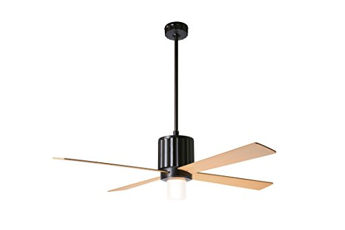 "Modern Fan Company Flute 52"" Dark Bronze w/Maple Blades 17.5W LED Ceiling Fan with Wall Control"