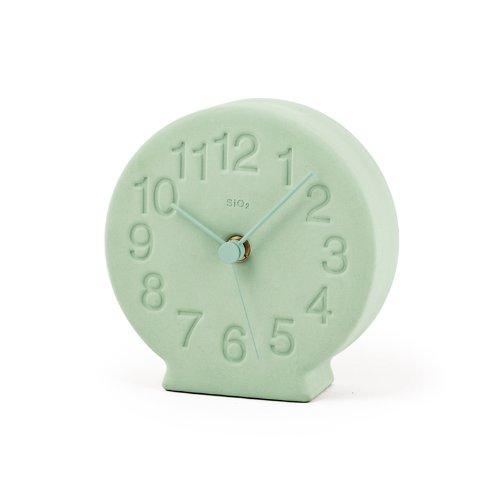 Lemnos 珪藻土の置時計 グリーン NY13-15 GN B00H93LZJGグリーン