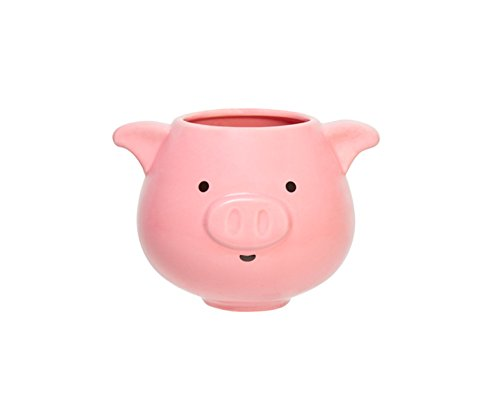 Thumbs Up UK Fun Novelty Pig Ceramic Mug with Handle-Perfect for Home and Office-10 fl. Oz