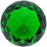 Tripact 100mm (3.93 inch) Diamond Crystal Diamond Jewel Glass Paperweight - 04
