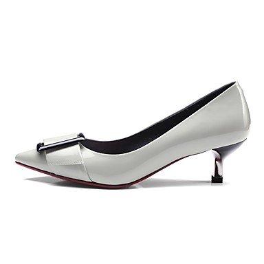 LvYuan-ggx Femme Chaussures à Talons Confort Polyuréthane Automne Hiver Décontracté Confort Gris Jaune Plat , gray , us4-4.5 / eu34 / uk2-2.5 / cn33