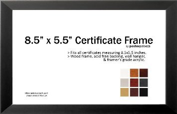 Amazoncom The Simple Things Certificate Wood Frame Black