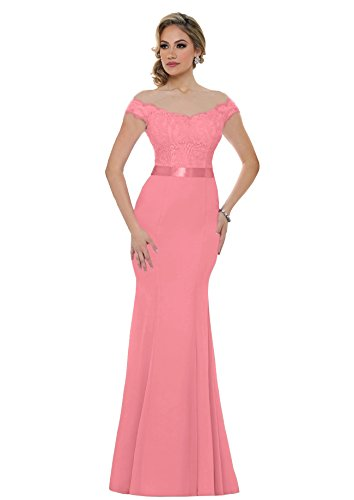 4b77cc76ddb50 ... 2018 Long Mermaid Bridesmaid Dress Off Shoulder Sequins Evening Prom  Dresses S015 (4,Coral). ; 