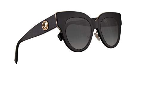 Fendi FF0360/G/S Sunglasses Black w/Dark Grey Gradient Lens 51mm 8079O FF 0360/G/S
