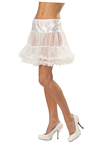 Mememall Fashion Ruffled Pettiskirt Adult Costume Accessory (White) (Ruffled White Pettiskirt)