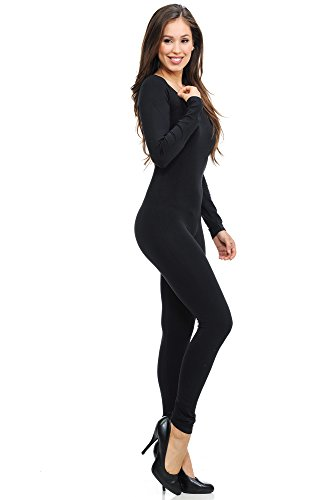 - 31ql8g7ifQL - World of Leggings Women's Premium Basic Full Nylon Spandex Jumpsuit – Shop 6 Colors