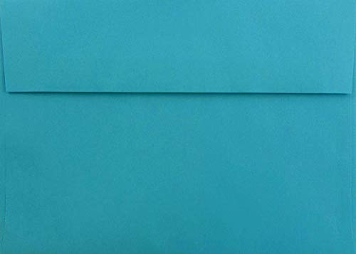 Teal/Aqua 50 Boxed A7 Envelopes (5.25 x 7.25) for 5 x 7 Cards, Invitations, Announcements by The Envelope Gallery