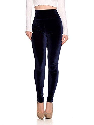 Cemi Ceri Women's J2 Love Velvet High Waist Leggings, Small, Plush Navy