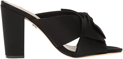 Women's Samina Sandal Nina Satin Luster Black Dress 1wdqxtA
