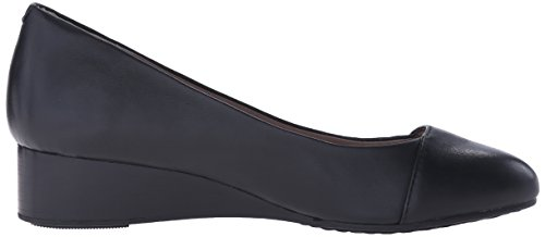 Admire Leather Hush Puppies Women's Britt Black Pump Wedge tBtOwpcq6