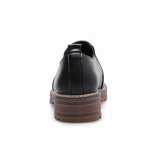Latasa Womens Comfort Low Heel Slip on Loafers Black OsKuL
