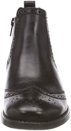25493 Nero Tamaris black Chelsea Stivali Donna 21 3 Leather qwdCBz