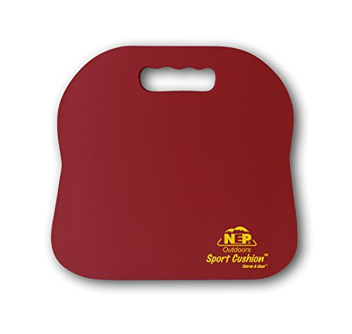 NEP Outdoors Therm-a-Seat Sport Cushion Sporting Event Seat Pad, Maroon