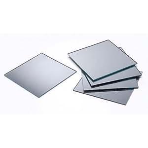 "Square Glass Mirror 3"" 5/Pkg-"