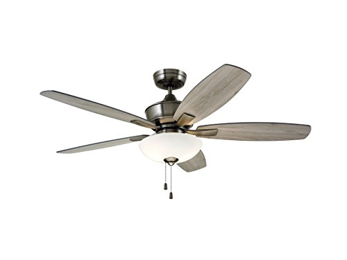 Emerson CF825AP Lindell 52-inch Transitional Ceiling Fan with Reversible Blades, 5-Blade Ceiling Fan with LED Lighting