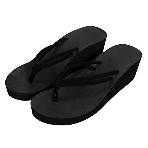 LQZ Woman Flip Flops Wedge Sandals Platform Slippers