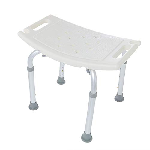 Iusun Shower Bench for Elderly Handicap Chair Bath Seat with Padded Armrests and Back Great for Spa Bathtubs Height Adjustable14'' to 20'' - Ship from USA (B)