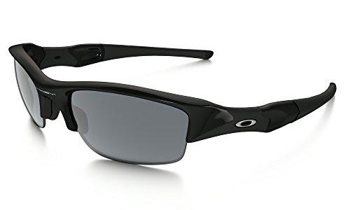 Oakley Flak Jacket Sunglasses Jet Black / Black Iridium & Cleaning Kit - Jet Black Oakley Flak Jacket