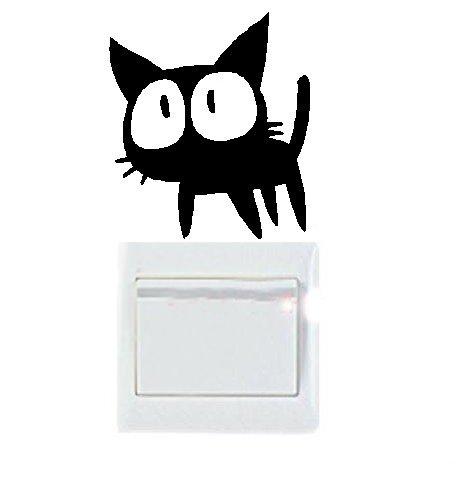 Vinilo decorativo pegatina pared, cristal, puerta (Varios colores a elegir)- gato: Amazon.es: Hogar