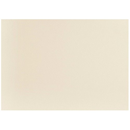 JAM PAPER Blank Flat Note Cards - 3 1/2 x 4 7/8 (Fits in 4bar A1 Envelopes) - Ivory - - 3 Card Flat