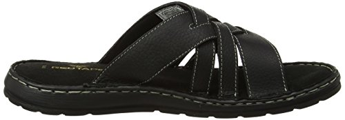 Red Tape  Bay - Sandales Bout ouvert - Homme - Black (Milled Black) - 0