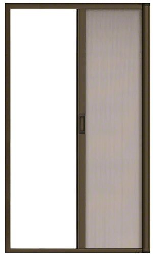 Bronze 96 Euro Retractable Screen Door Kit by CR Laurence