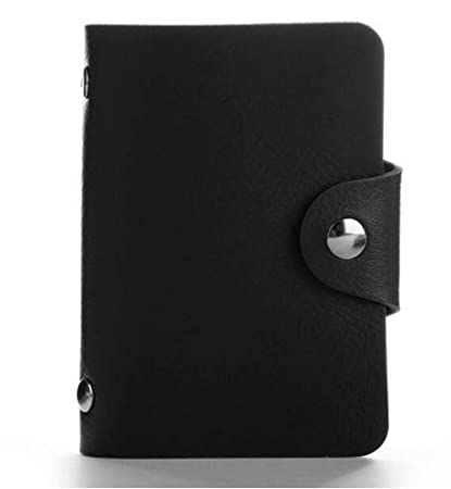 cb4c7672683 XZHJT ChicChillShop Fashion PU Leather Function 24 Bits Card Case Business  Card Holder Men Women Credit