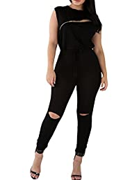 39ef1b8ff112 Women 1PC Waisted Long Pant Casual Jumpsuit Romper Outfits