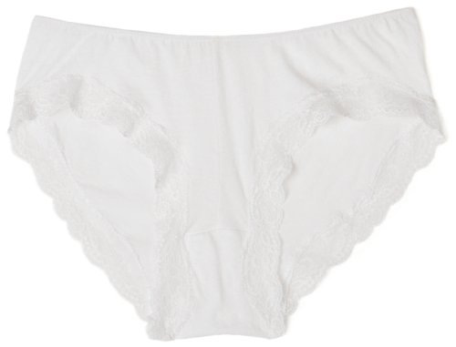Only Hearts Women's Organic Cotton Hipster Panty,White,Medium