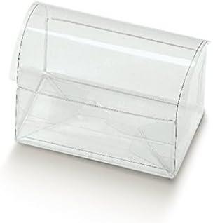 Caja Estuche Transparente PVC acetato mm.130 x 80 x 95 unidades .10: Amazon.es: Hogar