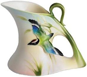 Franz Porcelain Bamboo Song Bird Design Creamer
