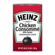Heinz Condensed Chicken Consomme with Gelatin - 48 oz. can, 12 per case