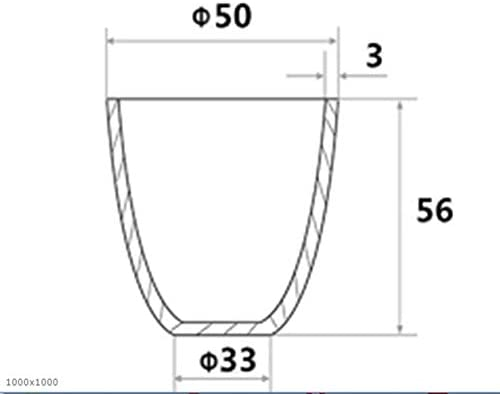 JIANFEI LIANG Alumina Thermische Analyse Crucible Instrument Refractory Hochtemperaturbeständige Labor 50ml (Color : White)
