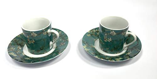 (Vincent Van Gogh Espresso set Almond Blossom (2 pack))