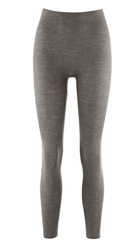 Living Crafts Organic Textiles Women's Organic Wool & Silk Long John Pants (36/38, Charcoal)