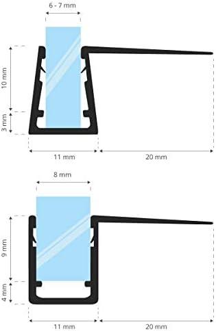 STEIGNER 80 cm Junta Repuesto Para el Vidrio 5mm/6mm/7mm/8mm Junta ...