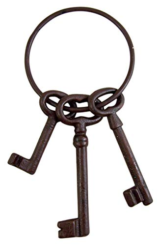 Super Z Outlet Pirate Ship Skeleton Jail Keys Set - Cast Iron Costume Prop -