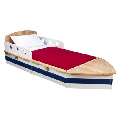 purchase cheap 28ea2 5e6e6 KidKraft Boat Bed - all hardwood! toddler size: Amazon.co.uk ...