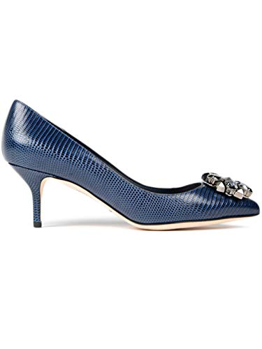 Dolce & Gabbana Women's Fashion Pumps Blue EU 38,5 (US 8,5) / EU 40 (US 10) (EU 38,5 (US 8,5))