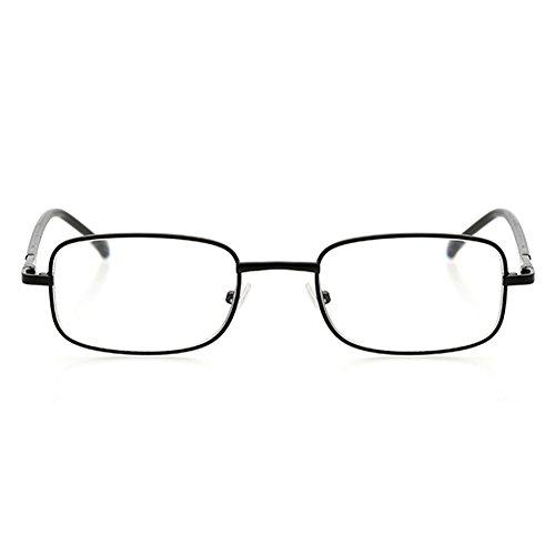 Intensidad gafas de la las del Black Viejo marco de Vidrios lectura hombre lectura metal anteojos del 0 cuadrados de Dintang 1 manera 0 llenos Vidrios a 4 CRwTqxU