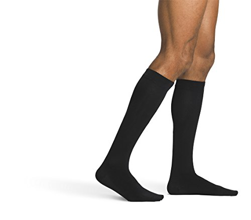 SIGVARIS Men's SEA ISLAND COTTON 191 Calf High Compression Socks - Island Fashion Stores