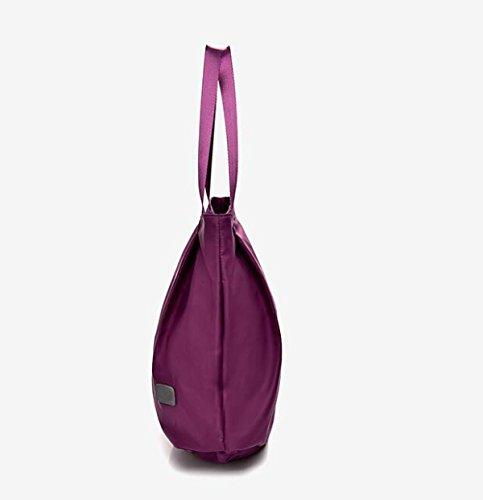 MYLL Borse In Tessuto Di Cuoio Alla Moda Delle Donne Borse A Tracolla Di Grandi Capacità,DarkBlue Purple